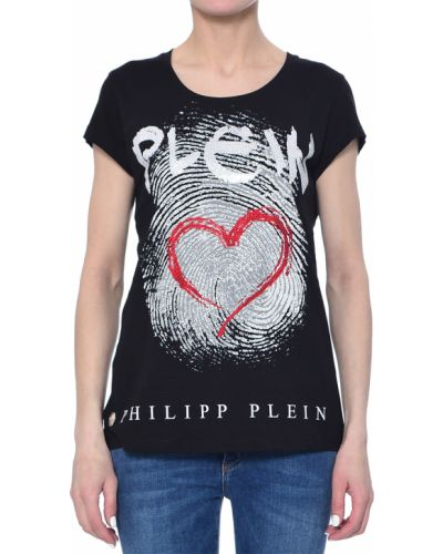 Футбольная черная футболка Philipp Plein