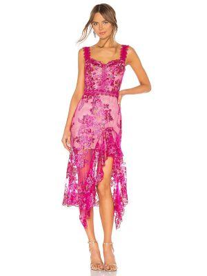 Платье миди классическое - розовое Bronx And Banco