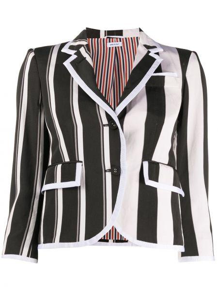 Bawełna klasyczny jedwab biały krawat Thom Browne