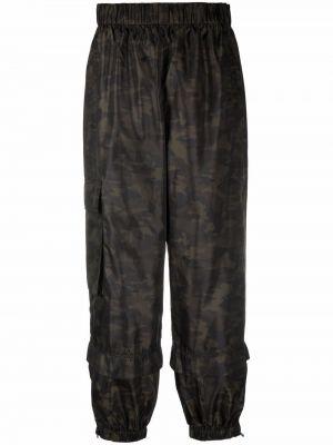 Czarne spodnie z printem Tibi