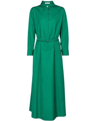 Ватное хлопковое зеленое платье макси The Row