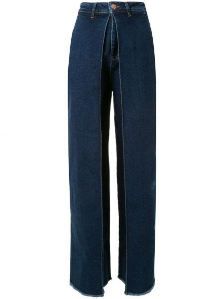 Niebieskie jeansy z wysokim stanem bawełniane Aalto