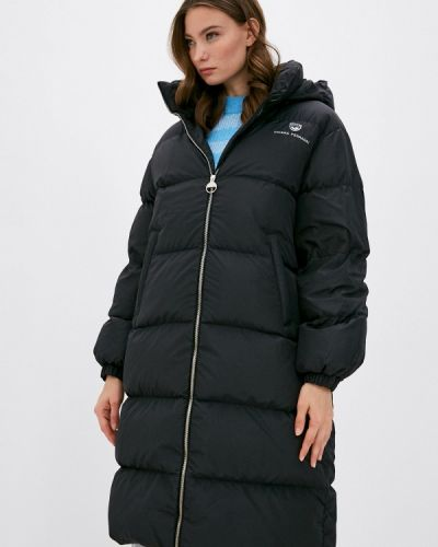 Теплая черная куртка Chiara Ferragni Collection