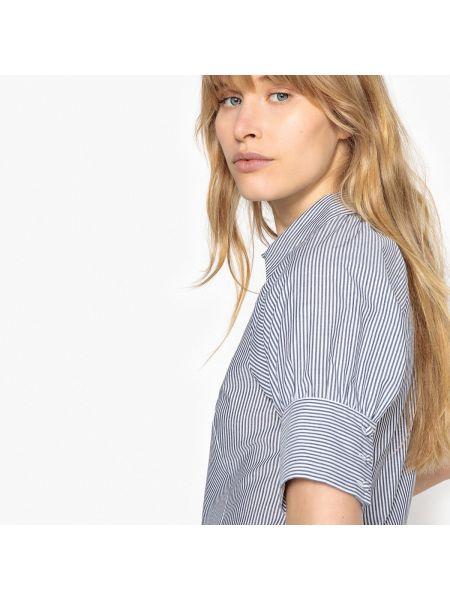 Рубашка с коротким рукавом в полоску приталенная La Redoute Collections