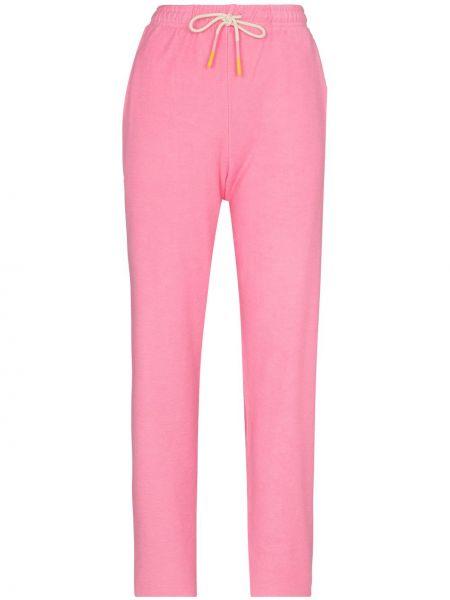 Хлопковые розовые прямые брюки Mira Mikati