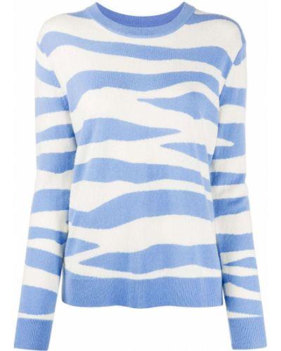 Кашемировый синий прямой джемпер с вырезом Chinti & Parker