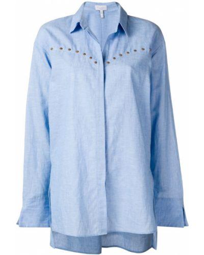 Рубашка оверсайз - синяя Escada Sport