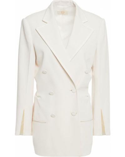 Белый пиджак двубортный с карманами Sara Battaglia