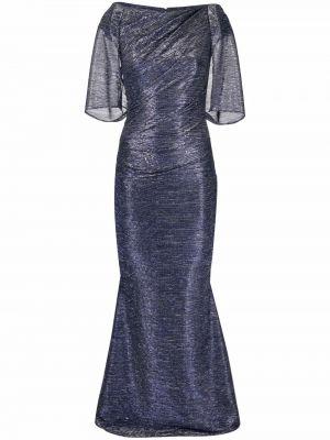 Платье макси короткое - синее Talbot Runhof