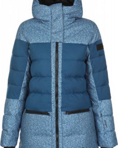 Теплая пуховая синяя куртка Glissade