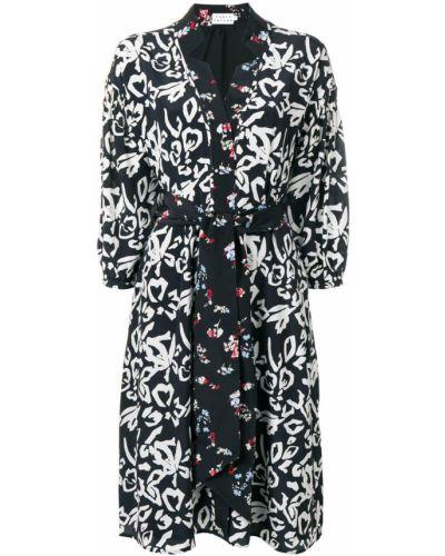 Платье миди с запахом с цветочным принтом Tanya Taylor