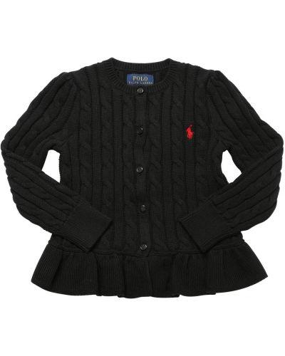Bawełna bawełna kardigan z haftem Ralph Lauren