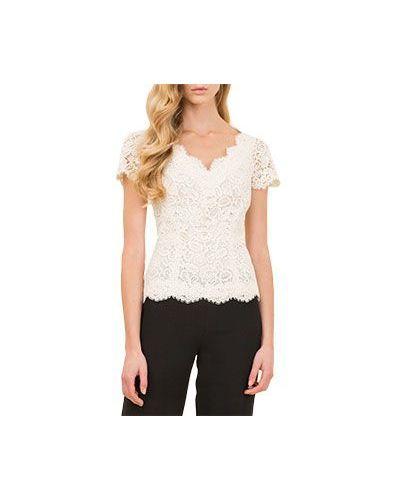 Белая блузка приталенная Luisa Spagnoli