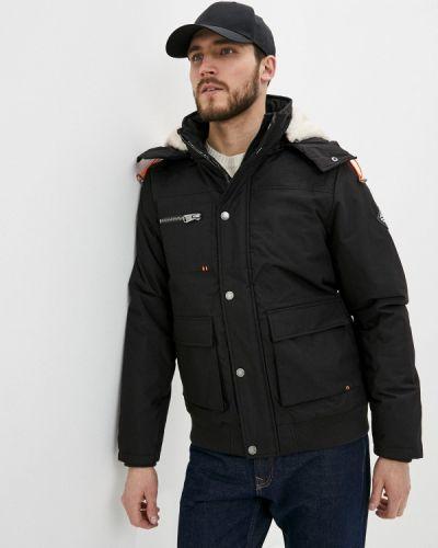 Черная утепленная короткая куртка Haily's