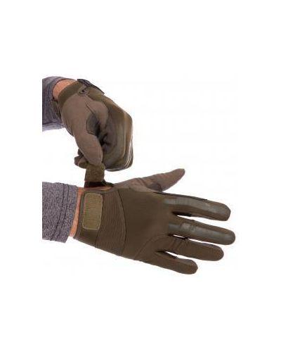 Кожаные перчатки - черные Zelart