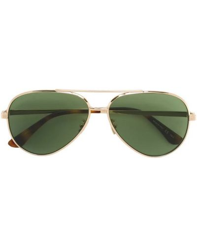 Żółte okulary Saint Laurent