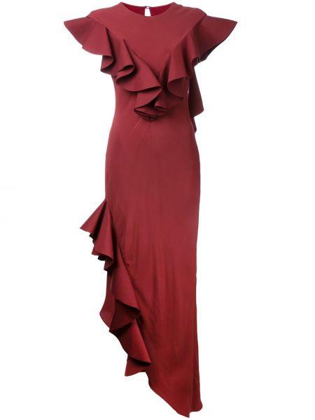 Красное вечернее вечернее платье с оборками Bianca Spender