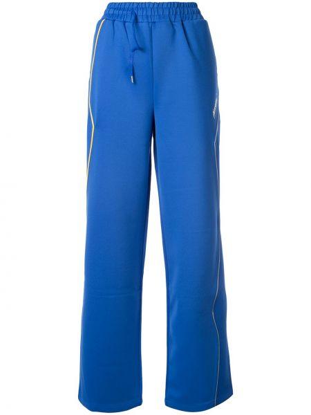 Niebieskie spodnie z wysokim stanem peep toe Ader Error