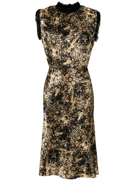 Свободное черное платье миди без рукавов À La Garçonne