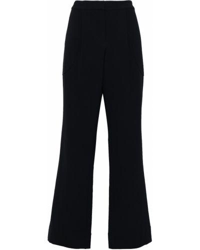 Прямые шерстяные синие брюки Derek Lam 10 Crosby