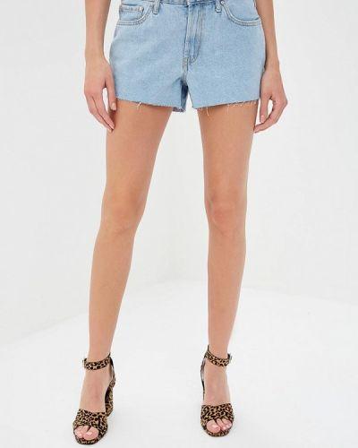 Джинсовые шорты голубой Mango