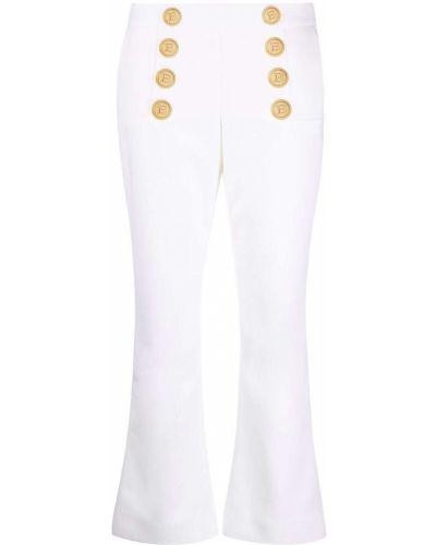 Białe spodnie wełniane Balmain
