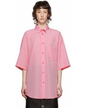 Рубашка с коротким рукавом в клетку с принтом Balenciaga