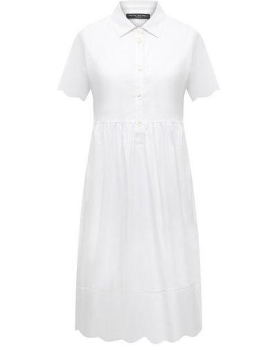 Хлопковое белое платье Pietro Brunelli