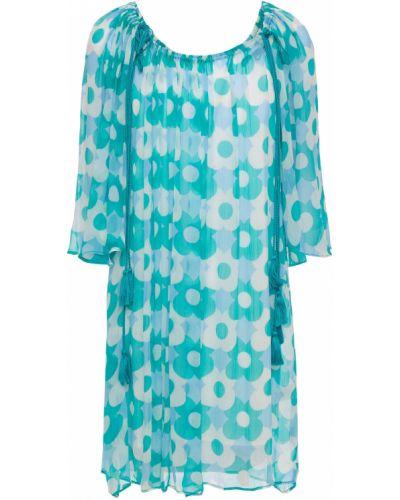 Niebieska sukienka z wiskozy Antik Batik