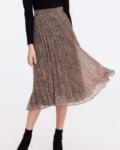 Плиссированная юбка бежевый Musthave