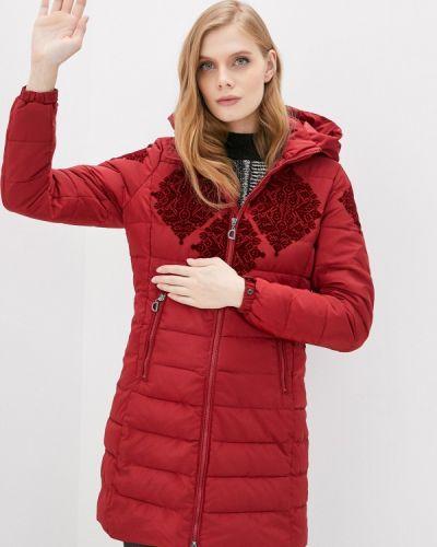 Теплая красная куртка Desigual