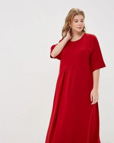 Повседневное платье красный осеннее Zar Style