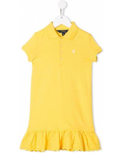 Платье с рукавами короткое ажурное Ralph Lauren Kids