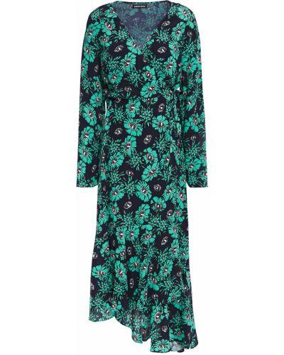 Платье миди с принтом - бирюзовое Markus Lupfer