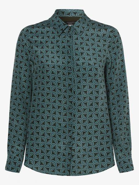 Niebieska bluzka z jedwabiu vintage Weekend Max Mara