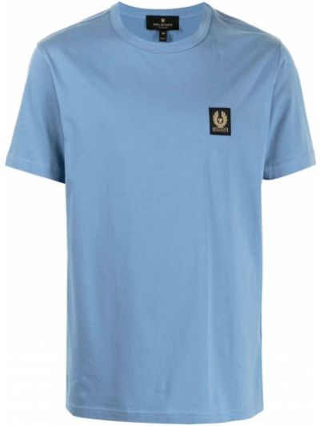 Niebieski t-shirt bawełniany krótki rękaw Belstaff