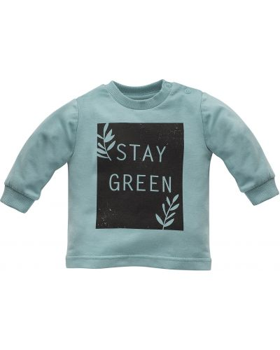 Bluzka materiałowa - zielona Pinokio