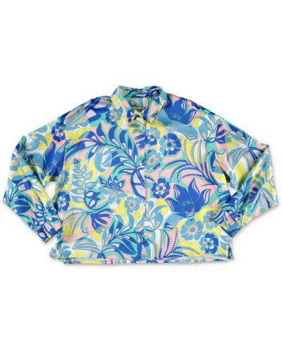 Niebieska koszula Emilio Pucci