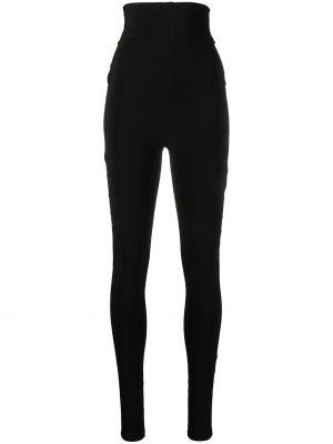 Трикотажные черные леггинсы с высокой посадкой Atu Body Couture