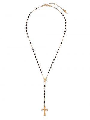 Ожерелье золотое с подвесками со вставками Dolce & Gabbana