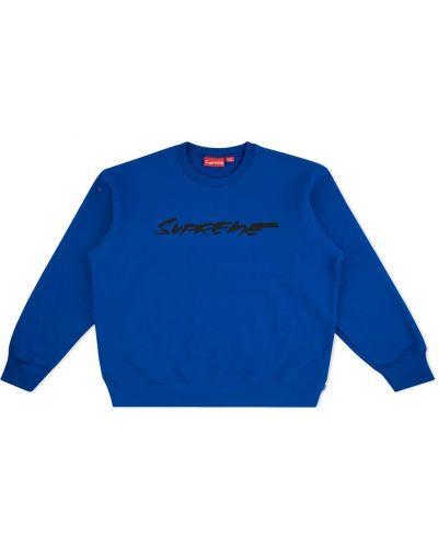 Bawełna z rękawami niebieski bluza Supreme