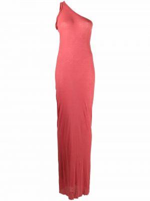 Sukienka długa bawełniana - różowa Rick Owens