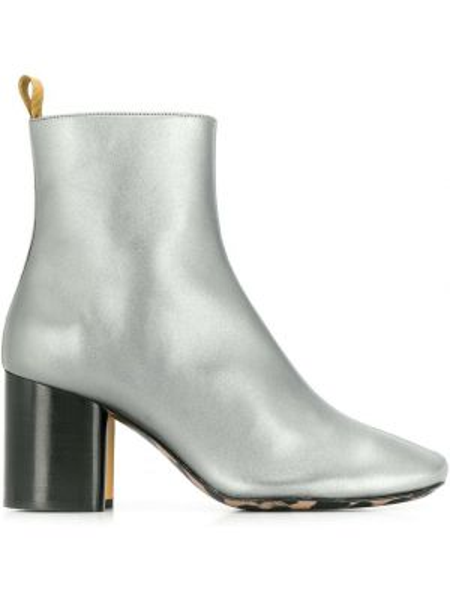 Ботинки на каблуке круглые на молнии Paul Smith