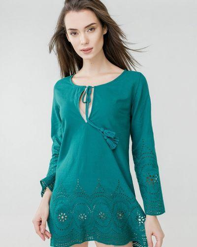Пляжное платье весеннее зеленый Ora