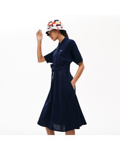 Ватное хлопковое платье Lacoste
