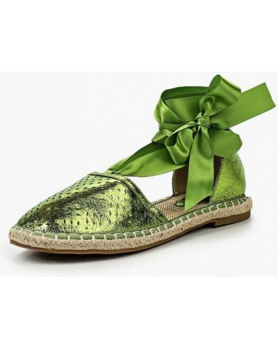 Зеленые эспадрильи Vera Blum