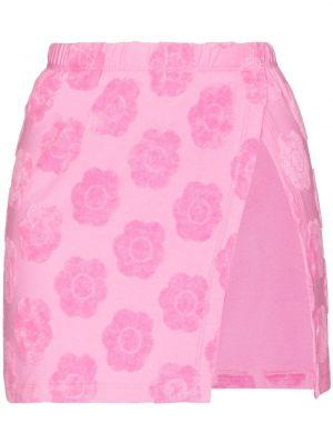 Розовая нейлоновая юбка Frankie's Bikinis