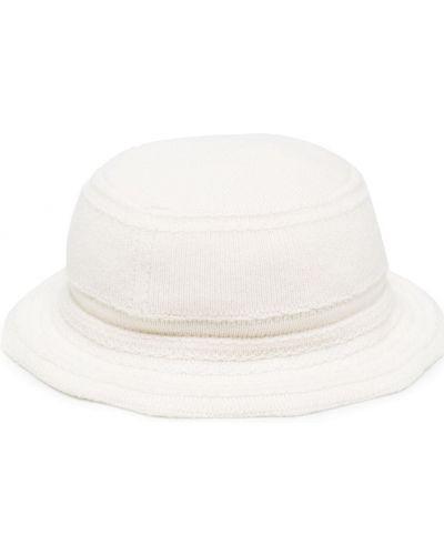Кашемировая вязаная белая шапка узкого кроя Barrie