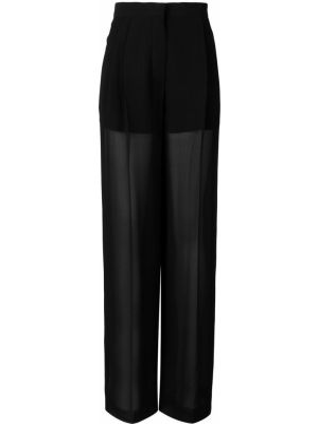 Шелковые черные брюки с карманами Sonia Rykiel