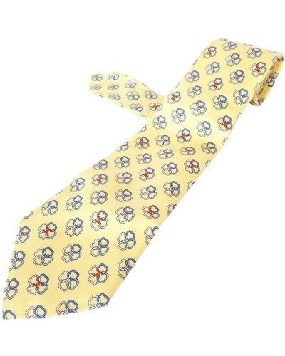 Krawat z jedwabiu - żółty Chanel Vintage